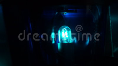 Blauw Flitslicht stock footage