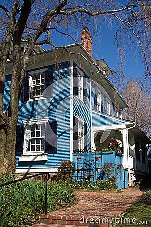Blauw Plattelandshuisje