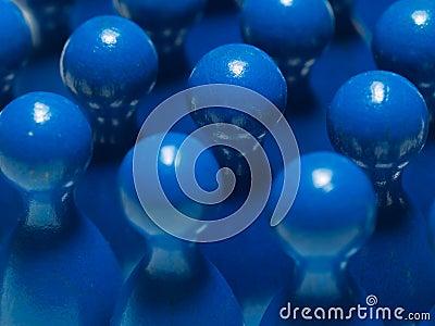 Blauwe abstracte voorwerpen