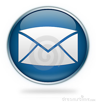 Blauwe e-mailpictogramknoop