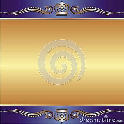 Blauwe gouden achtergrond