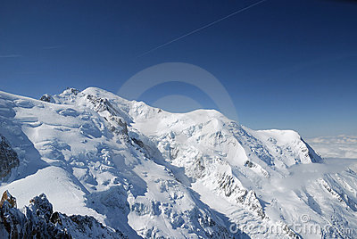 Blauwe hemel boven pieken en gletsjer de alpen stock foto 39 s afbeelding 6521263 - Blauwe hemel kamer ...
