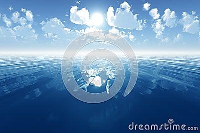 Blauwe kalme overzees