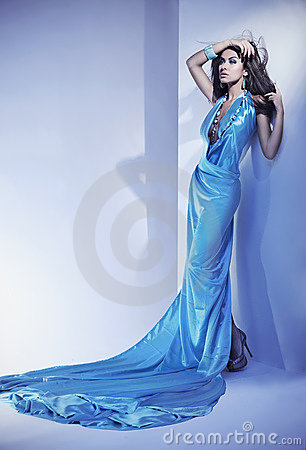 Blauwe kleding