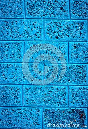 Blauwe muur