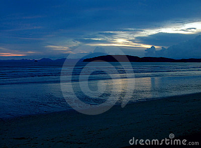 Blauwe mystic zonsondergang II
