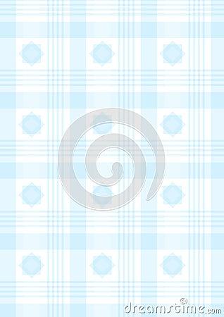 Blauwe plaid