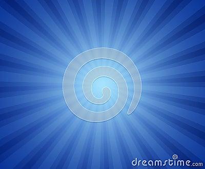 Blauwe straalachtergrond
