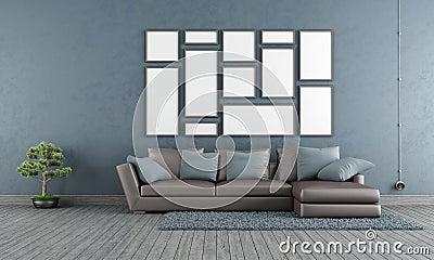 Woonkamer Blauwe Muur ~ Beste Ideen Over Huis en Interieur