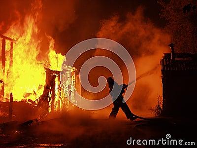 Blaze at night