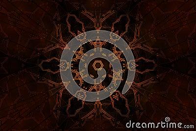 Blazing occult symbol
