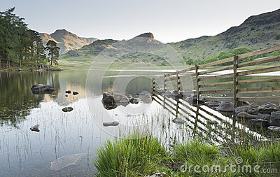 Lake District Fence Reflection