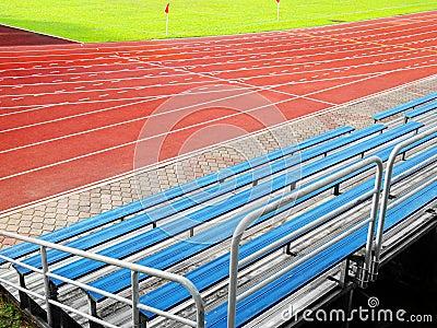 Bleachers seating in stadium