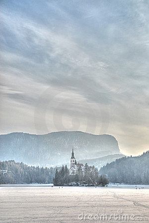 Bled castle and lake
