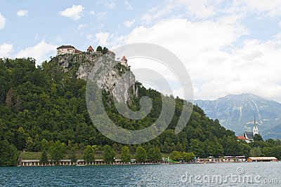 Bled: castle and lake