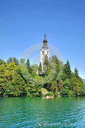 Bled Island with Pilgrimage Church of the Assumption of Mary