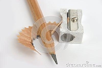 Bleistift mit Bleistiftspitzer