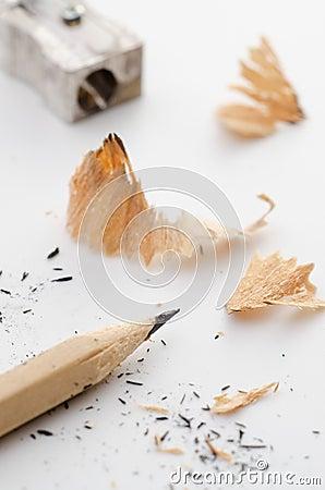 Bleistift und Bleistiftspitzer