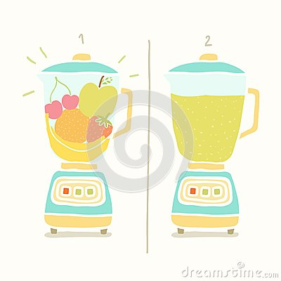 Free Blender Making Fruit Smoothie. Royalty Free Stock Photo - 47242505