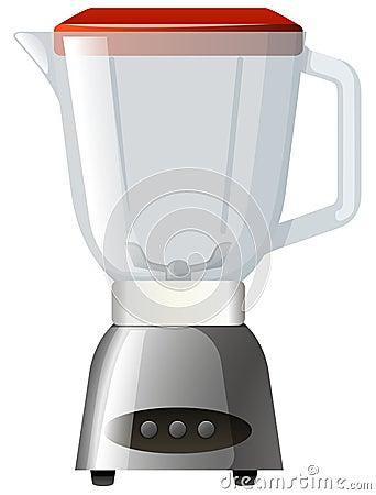 Blender with red lid Vector Illustration