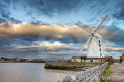 Blenerville windmill in Tralee  in Ireland.