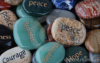 Blessing Stones, Hope, Courage, Happiness