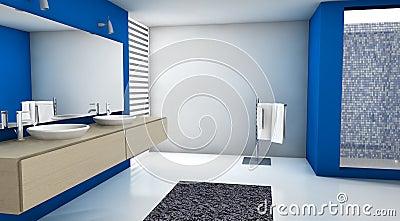 bleu de salle de bains photographie stock libre de droits image 23547767. Black Bedroom Furniture Sets. Home Design Ideas