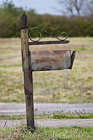 Bliende föråldrad brevlåda för Snailpost