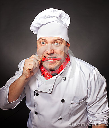 Blije chef-kok