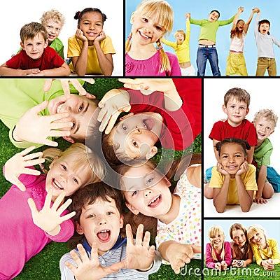 Blije kinderen