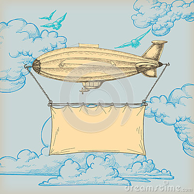 Free Blimp Banner Royalty Free Stock Photography - 25695657