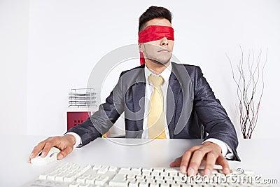 Blind computer user