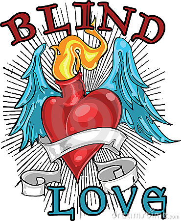 Blind love t-shirt design