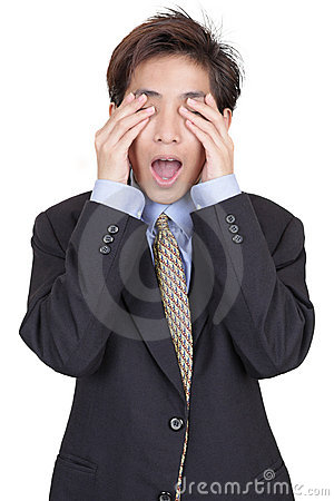Free Blinded Businessman In Denial Royalty Free Stock Photo - 12936635