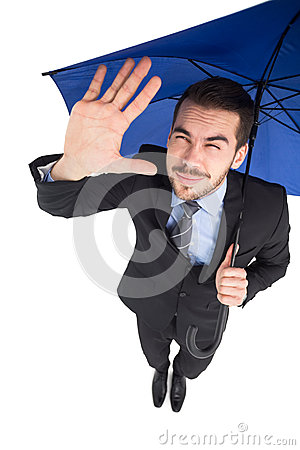 Free Blinded Businessman Protecting His Eyes With His Hand Royalty Free Stock Images - 46982299