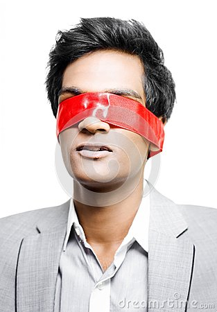 Free Blinded By Red Tape Or Held To Ransom Royalty Free Stock Image - 25707256