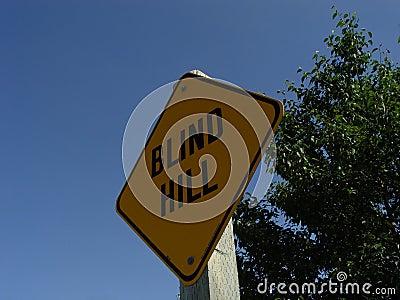 Blindes Hügel-Zeichen