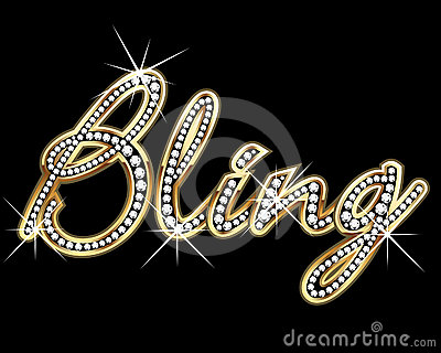 Bling bling gold vector