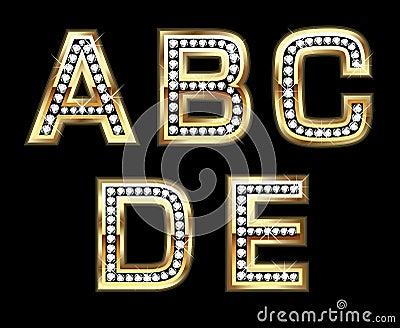 Bling set 1 of initials