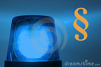 Blinkende blaue Leuchte