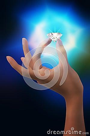 Blinkender Diamant