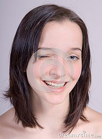 The blinking girl