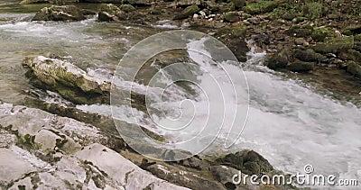 Blisko widoku gwałtowni rzeka zdjęcie wideo