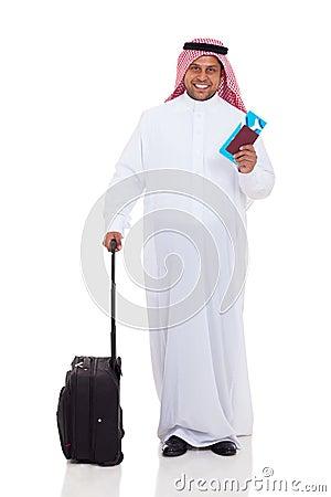 Bliskowschodnia mężczyzna podróż