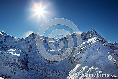 Blizzard atop the alps