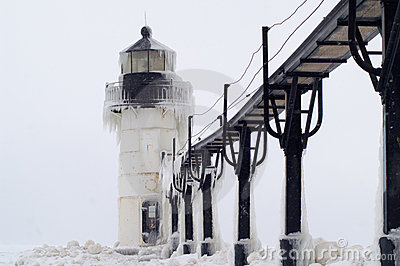 Blizzard over St. Joseph Lighthouse