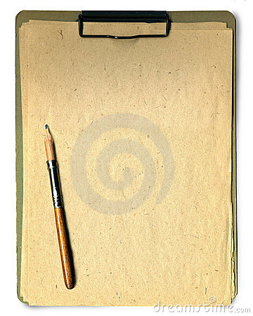 Bloc - notes et crayon
