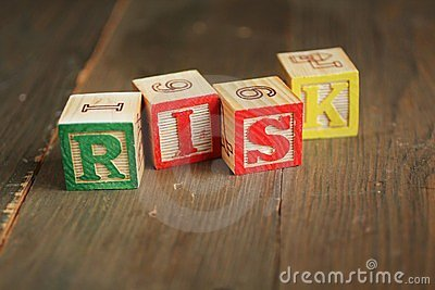 Blocchetti di legno di rischio