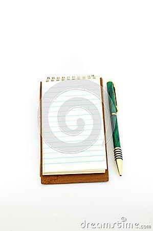 Blocchetto per appunti con la penna