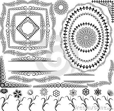 Blocchi per grafici e fiori dei bordi